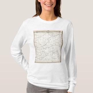T-shirt Carte de section de T21S R24E Tulare County
