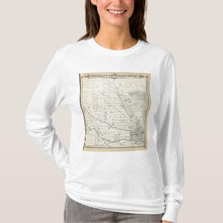 T-shirt Carte de section de T21S R27E Tulare County