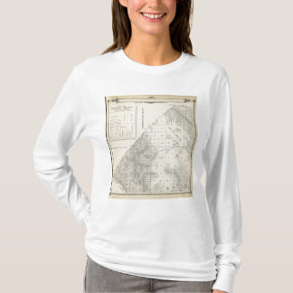 T-shirt Carte de section de T2223S R1617E Tulare County