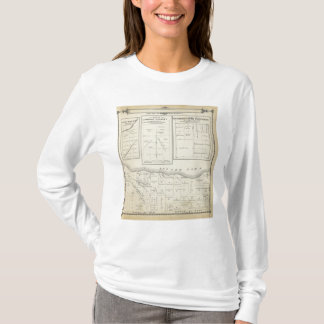 T-shirt Carte de section de T23S R2021E Tulare County