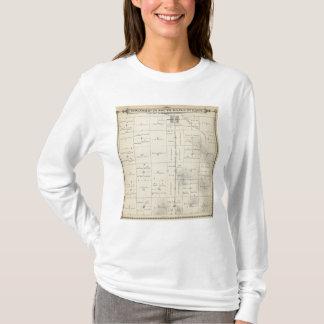T-shirt Carte de section de T23S R27E Tulare County