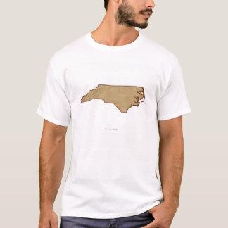 T-shirt Carte de soulagement de la Caroline du Nord