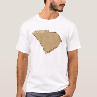 T-shirt Carte de soulagement de la Caroline du Sud
