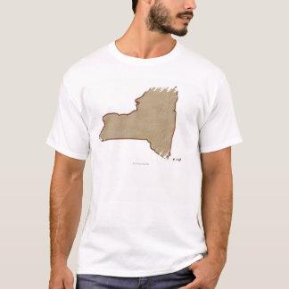 T-shirt Carte de soulagement de l'état de New-York