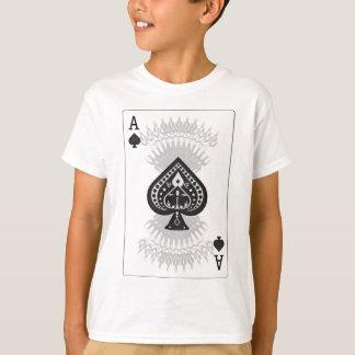 T-shirt Carte de tisonnier d'as de pique :