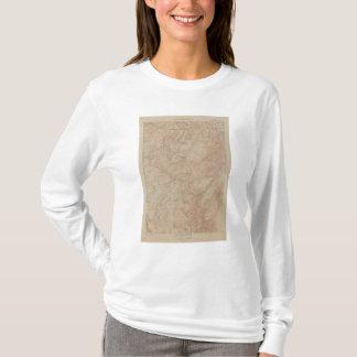 T-shirt Carte de topographie, pièce nationale de
