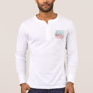 T-shirt Carte de travail 2015 - Chemise de blanc de Henley