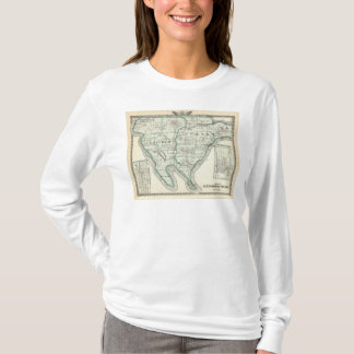 T-shirt Carte des comtés d'Alexandre et de Pulaski