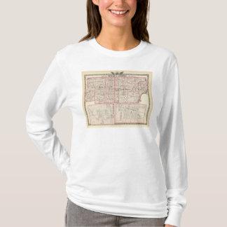 T-shirt Carte des comtés de Richland et de Lawrence