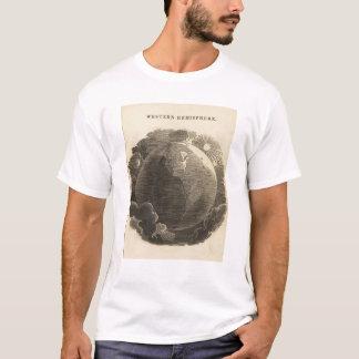 T-shirt Carte d'hémisphère de l'ouest par Goodrich