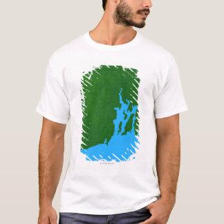 T-shirt Carte d'Île de Rhode