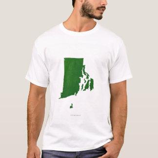 T-shirt Carte d'Île de Rhode 2