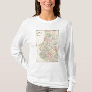 T-shirt Carte d'index d'Oakland