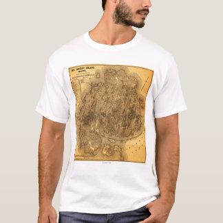 T-shirt Carte d'IslandPanoramic de désert de bâti