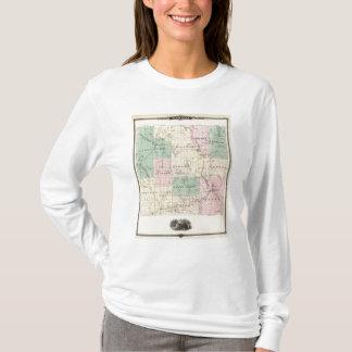 T-shirt Carte du comté de Barron, état du Wisconsin