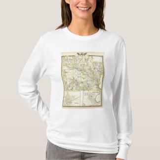 T-shirt Carte du comté de Clay, de Flora et de Louisville