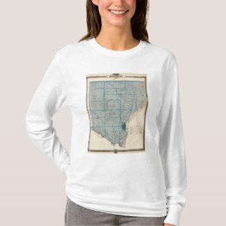 T-shirt Carte du comté de Des Moines, état de l'Iowa