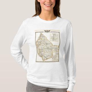 T-shirt Carte du comté de Monroe, de DuQuoin et de