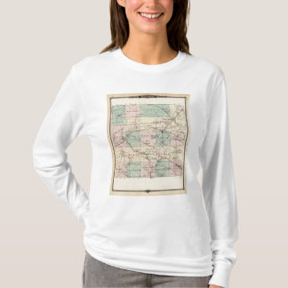 T-shirt Carte du comté de Monroe, état du Wisconsin