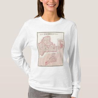 T-shirt Carte du comté de Scott avec Lexington, Scottsburg