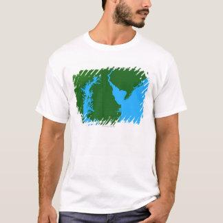 T-shirt Carte du Delaware