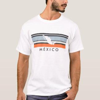 T-shirt Carte du Mexique : Rayures modernes