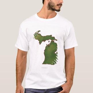 T-shirt Carte du Michigan 4