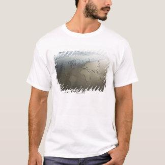 T-shirt Carte du monde sur le sable