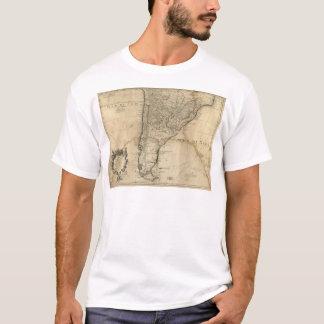 T-shirt Carte du Paraguay et du piment, Amérique du Sud