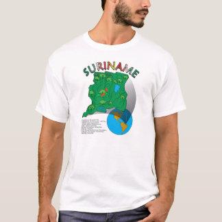 T-shirt Carte du Surinam