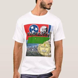 T-shirt Carte du Tennessee, drapeau, joint d'état et