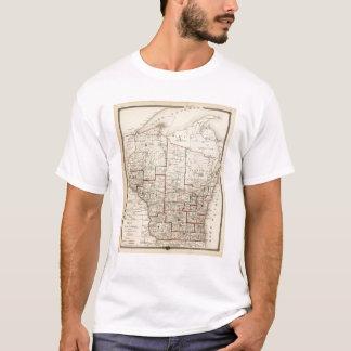 T-shirt Carte du Wisconsin