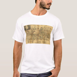 T-shirt Carte entière du monde par la poule de Herman