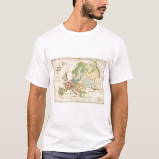 T-shirt Carte géologique de l'Europe