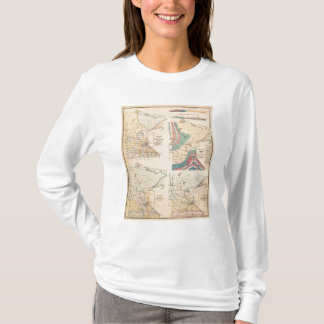 T-shirt Carte géologique du Minnesota par NH Winchell