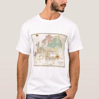 T-shirt Carte géologique l'Europe
