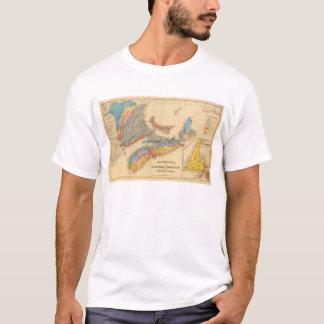 T-shirt Carte géologique, provinces maritimes
