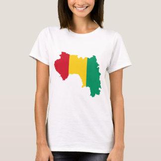 T-shirt Carte GN de drapeau de Guinée