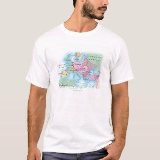 T-shirt Carte illustrée de l'Europe