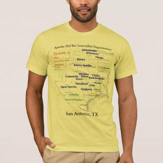 T-shirt Carte indienne 2, Apache Del Rio du Texas de