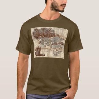 T-shirt Carte inférieure de reconnaissance de lac Saranac