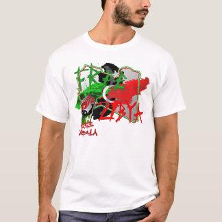 T-shirt Carte libre d'art de la Libye de la Libye
