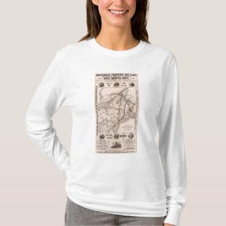 T-shirt Carte Montréal et compagnie aérienne de Boston