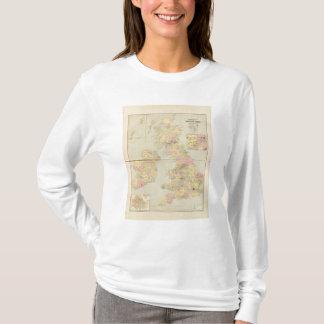 T-shirt Carte parlementaire, îles britanniques