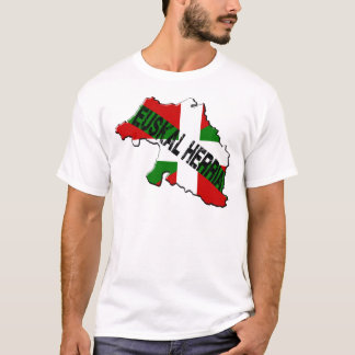 T-shirt Carte pays basque plus drapeau euskal herria