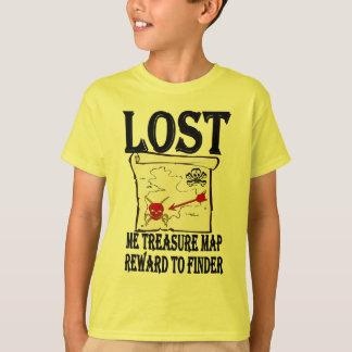 T-shirt Carte perdue de trésor de pirate