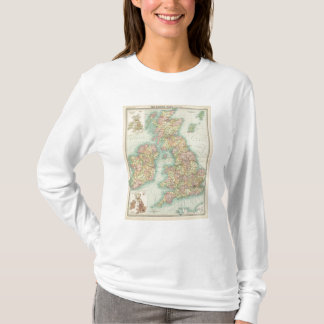 T-shirt Carte politique d'îles britanniques