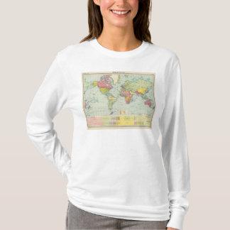 T-shirt Carte politique du monde