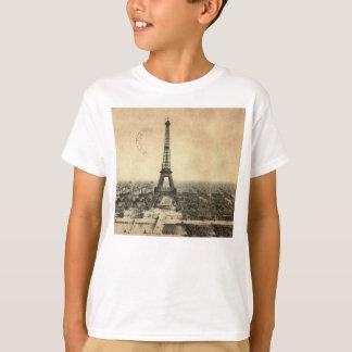 T-shirt Carte postale vintage rare avec Tour Eiffel à