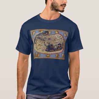 T-shirt Carte Ptolemaic antique du monde, Johannes